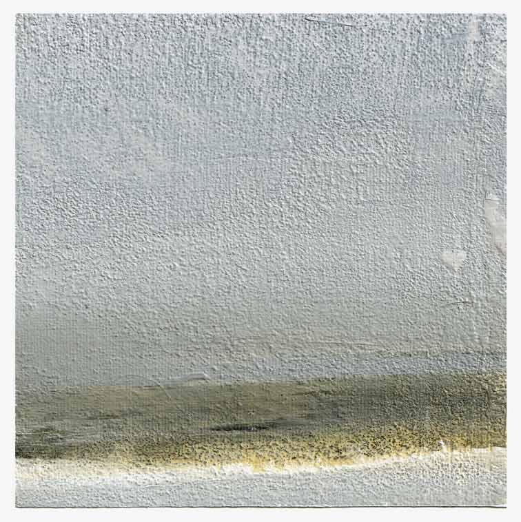 Meint van der Velde, The Netherlands, Landscape no Title 1, 2019, Acryl on Canvas Mounted on MDF, 14 x 14 cm