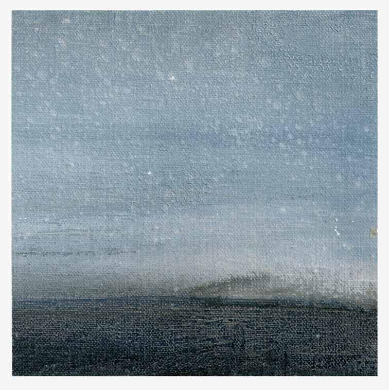 Meint van der Velde, The Netherlands, Landscape no Title 10, 2019, Acryl on Canvas Mounted on MDF, 14 x 14 cm
