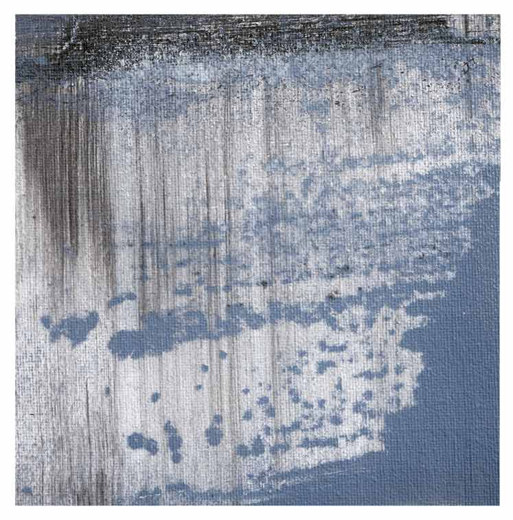 Meint van der Velde, The Netherlands, Landscape no Title 17, 2019, Acryl on Canvas Mounted on MDF, 14 x 14 cm