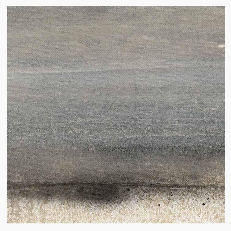 Meint van der Velde, The Netherlands, Landscape no Title 3, 2019, Acryl on Canvas Mounted on MDF, 14 x 14 cm