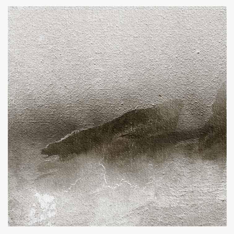 Meint van der Velde, The Netherlands, Landscape no Title, 2019, Acryl on Canvas Mounted on MDF, 14 x 14 cm