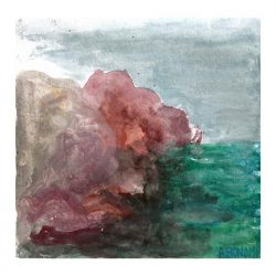 Adrianna Bonomi 2, France, Les Rochers, 2015, Gouache, 15 x 15 cm