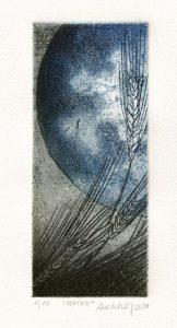 Ana Galvão 1, Portugal, Mater, 2018, Etching (Copper), 17,5 x 7,5 cm