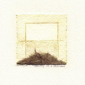 Ann Löwenstein 1, Sweden, Opening, 2018, Monotype, 7 x 7,5 cm