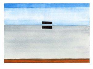 Aura op den Camp 2, Belgium, =, 2018, Gouache-Ink, 17,5 x 26,5 cm