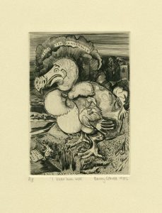 Barry Cottrell 1, United Kingdom, I Knew Him Well, 1985, Engraving, 14 x 10 cm