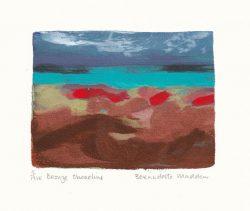 Bernadette Madden 1, Ireland, Bronze Shoreline, 2016, Screenprint, 18 x 18 cm