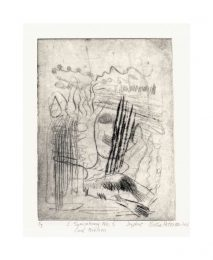 Birthe Petersen 2, Denmark, Carl Nielsen: Symphony No. 5, 2018, Drypoint, 15 x 11 cm