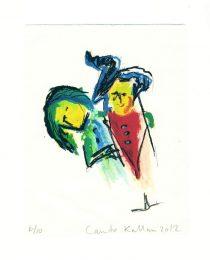 Canuto Kallan 1, Greece, Friendship, 2012, Screen Print, 20 x 15,5 cm