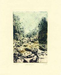 Christie Rosenberg 2, USA, Passages, 2017, Photo-Etch with Aquatint, Hand Inked a la Poupee, 10,16 x 15,24 cm