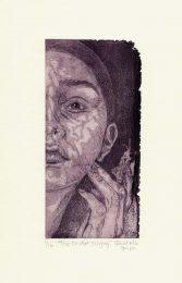 Claudiela Goya 2, Mexico, The Cricket Singing, 2018, Etching, Aquarell, 8,5 x 18 cm