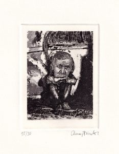 Elmar Peintner 1, Austria, Remembrance, 2019, Etching, 10 x 7,5 cm