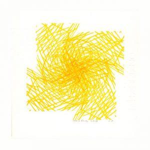 Erik Mol 1, The Netherlands, Gele Vorm, 2018, Lino, 20 x 20 cm