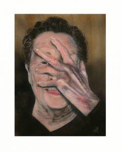 Esther Janssen 1, Belgium, Oh-Oh, 2018, Airbrush, 18 x 24 cm