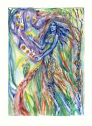Fariel Shafee 1, Bangladesh, Waiting 5, 2018, Watercolor on Paper, 18,5 x 26 cm