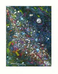 Giuseppe Sciancalepore 2, Italia, Milly Way, 2018, Acrilyc on Canvas, 18 x 24 cm