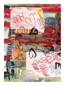 Halina Domanski 1, USA, Love is Dangerous, 2019, Collage on Paper, 20 x 28 cm