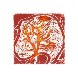 Helmi Leppäkoski 1, Finland, Brain Storm, 2017, Woodcat, 16 x 16 cm