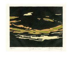Joop Overkleeft 1, The Netherlands, River Ijssel 1ten, 2017, Japanese Woodcute, 16 x 20 cm