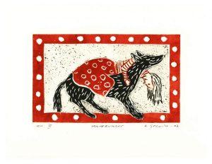 Leena Golnik 1, Finland, Pals, 2007, Relief Print, PVC-Engraving, 9,5 x 16,5 cm