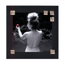 Line Taarnberg 3, Denmark, Eve, 2019, Mixed Media and Photo, 20 x 20 cm