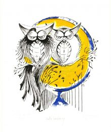 Mady Maeriën 2, Belgium, Owls Wedding, 2014, Litho Polyester, 20 x 26 cm