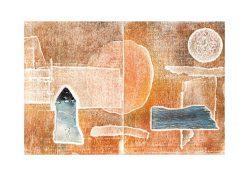 Majose Carrasco 1, Spain, Memory Place I, Woodcut, Mixed Media, 29 x 19,5 cm