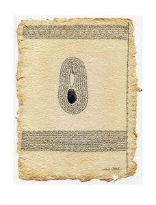 Maria Heed 1, Sweden, Blanc 1, 2017, Ink, 27 x 20 cm