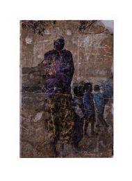 Marianne Reim 1, Canada, Markers 1, 2019, Photo-Transfer on Steel, 15 x 10 cm