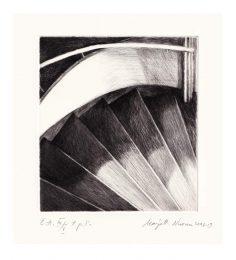 Marjatta Nuoreva 1, Finland, The Stairs, Drypoint, 14 x 12,5 cm