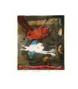 Marleen van Engelen 1, The Netherlands, Desire, 2017, Etching, 9,5 x 11 cm