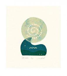 Mika Kuroki 2, Japan, Moonlight, 2015, Screenprinting, 21,0 x 14,8 cm