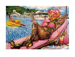 O. Yemi Tubi 3, United Kingdom, The Rosy Seasons of Life, 2018, Painting, 20 x 29 cm