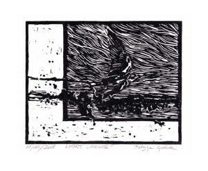 Patrycja Godula 1, Poland, Freedom, 2018, Linocut, 15 x 12 cm