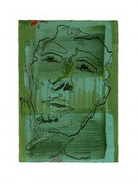 Simona Ledl 1, Austria, Outside Up, 2017, Acrylic, Drawing Ink on Paper, 21 x 15 cm