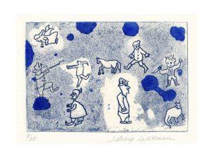 Solveig Lehtonen 1, Finland, Finnish Childhood I, 2013, Etching, 14,5 x 21 cm
