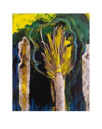 Suzanne C. Nagy 1, USA, Homage to the Trees I, 2019, Mixed Media, 20,3 x 25,4 cm