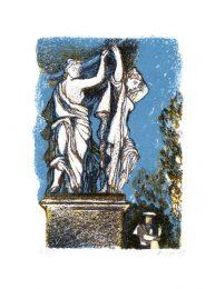 Svetlana Vedernikova 2, Russia, Caryatids, 2003, Colour Litography, 21 x 14 cm