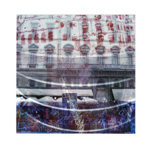 Vicky Tsalamata 1, Greece, Utopien Cities A , 2015, Intaglio, Digital Archival Print, 20 x 20 cm