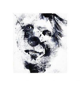 Viggo Salting, 1, Denmark, Clown, 2018, Acrylic on Canvas, 17 x 19 cm
