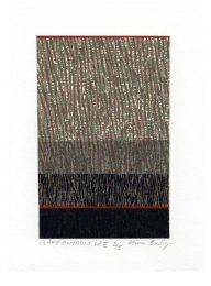Zenon Burdy 3, Canada, Lake Ontario 18e, 2017, Linocut, 28 x 19,5 cm