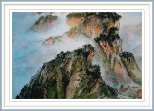 Sylviane Leblond, France, In The Clouds, 2013, Chinese Calligraphic Painting, 42 x 35 cm