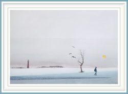 Gerhard Rasser 2, Austria, No Mans Land III, 2018, Watercolour, Gouache, 39 x 24 cm