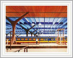 Herbert Hermans 3, The Netherlands, Train Missed, 2019, Oil on Linen, 80 x 60 cm