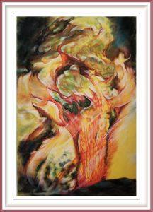 Veryal Zimmerman 1, USA, Yellowstone Eruption Gone A Rye, 2019, Pastel, 50,8 x 33 cm