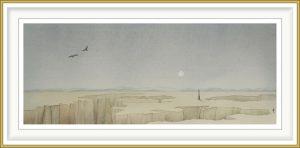 Gerhard Rasser 2, Austria, Crossing, 2019, Watercolor, Crayon, 46,5 x 19 cm