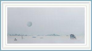 Gerhard Rasser 3, Austria, Fantasyland I, 2018, Watercolor, Crayon, Transferprinting, 45 x 30 cm