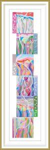 Ai-Wen Wu Kratz 2, USA, Dance To The Earth, 2015, Acrylic on Canvas,152 x 30 cm