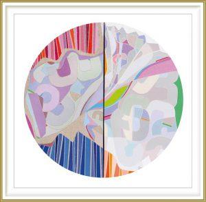 Ai-Wen Wu Kratz 3, USA, Improvisation, 2018, Acrylic on Canvas, 44 cm in diameter