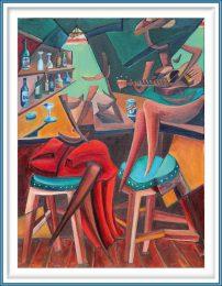 Derwin Leiva 6, USA, Love Quest, 2019, Oil on Canvas, 61 x 46 cm